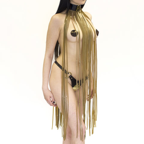 Scylla Latex Fringe Collar