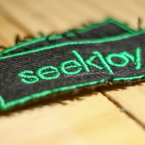 seekjoy Patch - Green on Black Denim