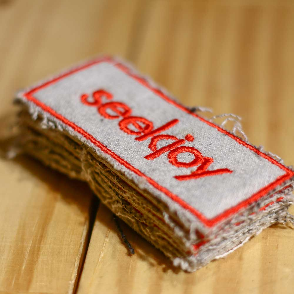 seekjoy Patch - Red on White Denim