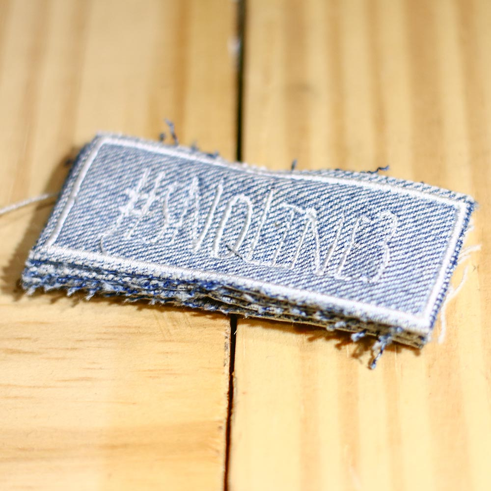 #sNoLine3 Patch - White on Blue