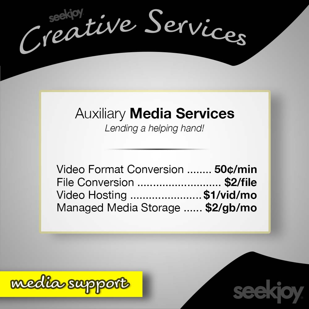 Auxiliary Media Support