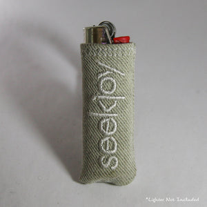 Upcycled Lighter Sleeve - White on White