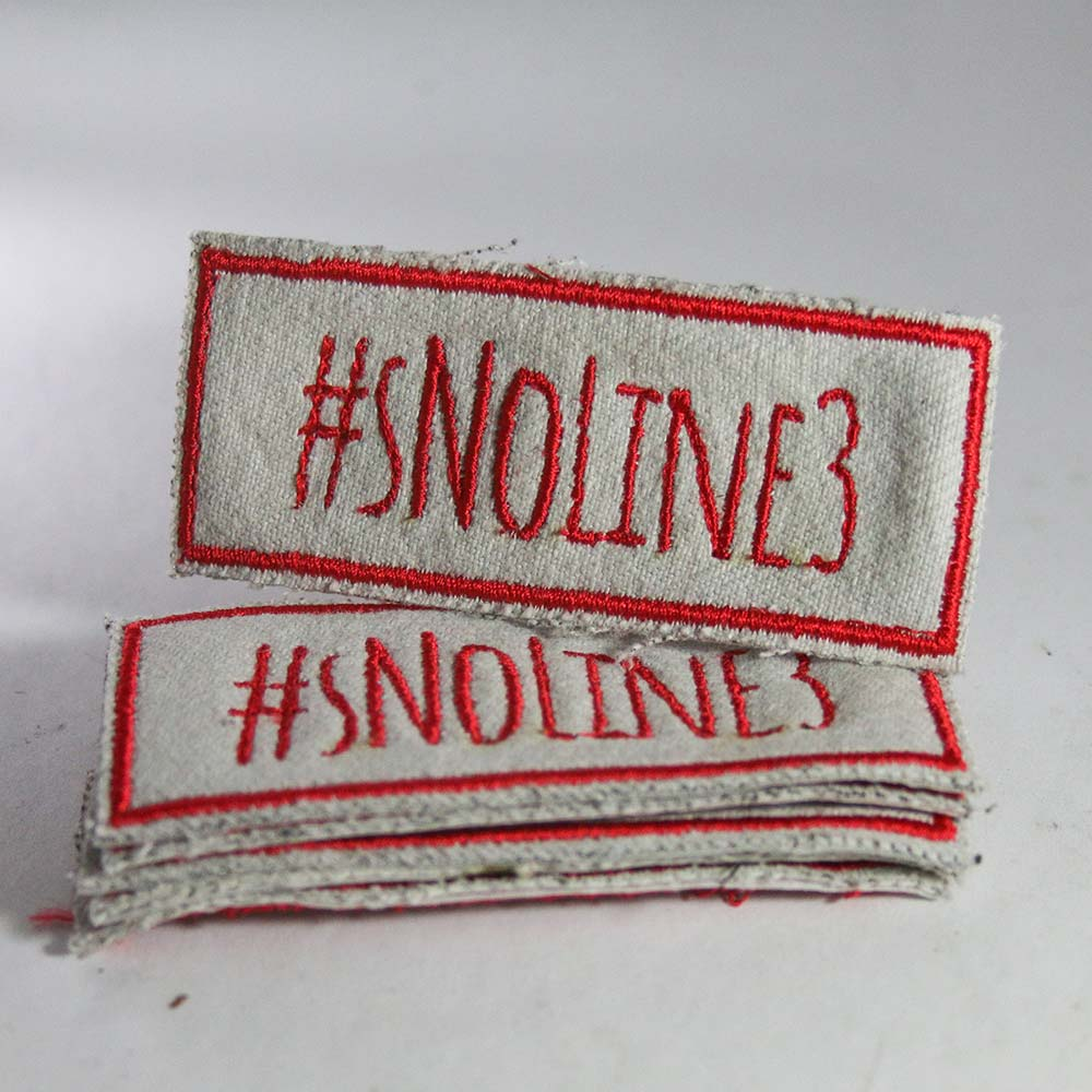 #sNoLine3 Patch - Red on White