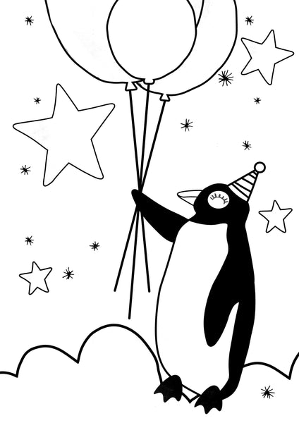 FREE -  PENGUIN IN SPACE PRINT