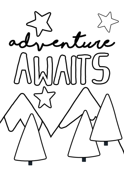 FREE -  ADVENTURE AWAITS PRINT