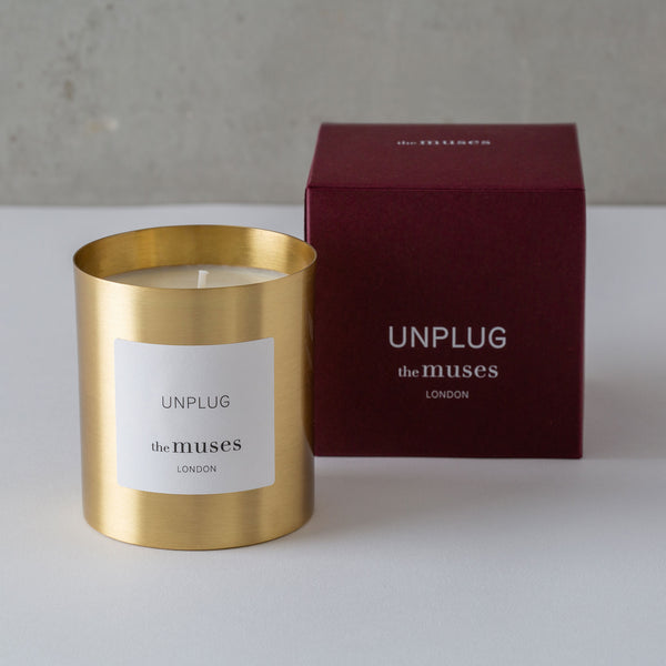 Unplug Fragranced Candle from The Muses