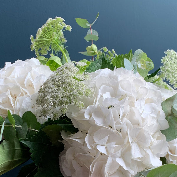 White Hydrangea Bouquet, Detail | Highgate Flowers