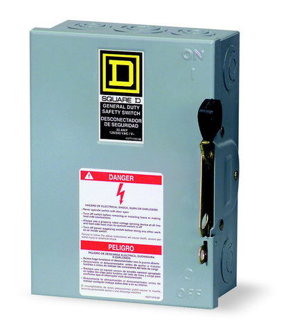 Square D D211N: 30A 2P 120/240V AC SAFETY SWITCH