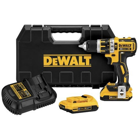 Dewalt DCD795D2 20V MAX* XR Lithium Ion Brushless Compact Hammerdrill Kit
