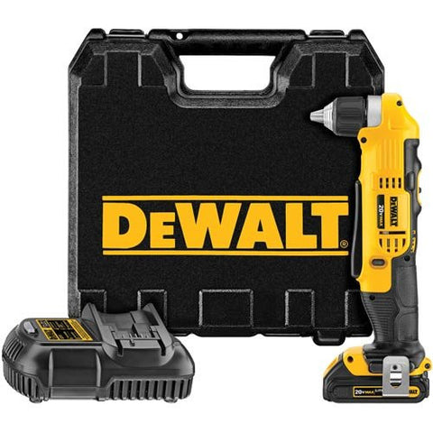 DEWALT DCD740C1 20-volt Max Li-Ion Compact Right Angle 1.5-Ah Drill Kit