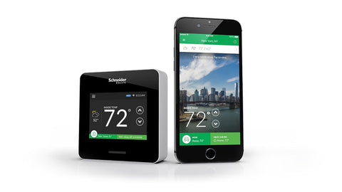 Schneider Electric Wiser Air Smart Thermostat Wi-Fi Programmable with Comfort Boost and Touch Screen Display