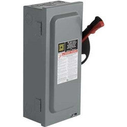 Square D CHU361RB: 240/480/600V AC/DC, 30A, 3P. NEMA 3R/12 Safety Switch