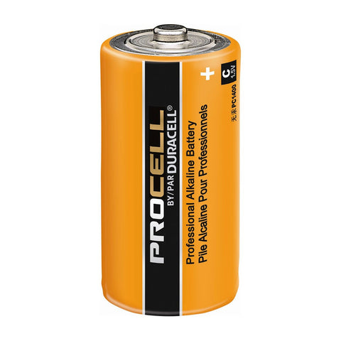 Duracell PC1400 Battery; Industrial Alkaline; Size: C; 1.5 Volts; 7000 mAh