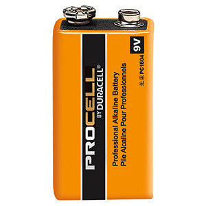Duracell PC1604 Battery; Industrial Alkaline; Size: Rectangle; 9 Volts; 550 mAh