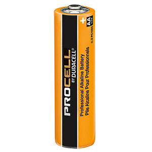 Duracell PC1500 Battery; Alkaline; ProCell; Size AA; 1.5V; 2100 mAh