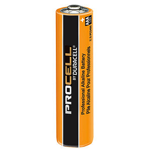 Duracell PC2400 Battery; Industrial Alkaline; Size: AAA; 1.5 Volts; 1000 mAh