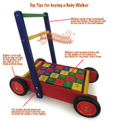 Buy this Wooden Baby Walker with Bricks online at When I Was a Kid. Free Delivery on all orders over £30. - 1