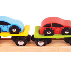 Buy Bigjigs Car Loader Wooden Rail online at When I Was a Kid. Free Delivery on all orders over £30. - 3