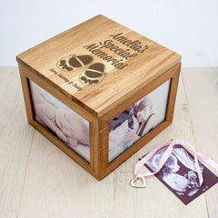 Buy Personalised Baby Keepsake Box in Oak online at When I Was a Kid. Free Delivery on all orders over £30. - 2