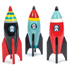 Buy Space Rocket Wooden Toy online at When I Was a Kid. Free Delivery on all orders over £30. - 3