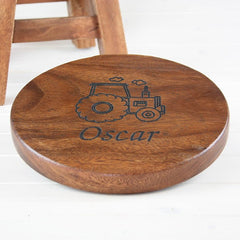 Buy this Personalised Wooden Stool for Children online at When I Was a Kid. Free Delivery on all orders over £30. - 2