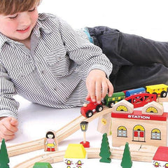 Buy Bigjigs Town and Country Train Set online at When I Was a Kid. Free Delivery on all orders over £30. - 2