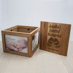 Buy Personalised Baby Keepsake Box in Oak online at When I Was a Kid. Free Delivery on all orders over £30. - 4