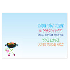 Personalised BBQ King Gift Card