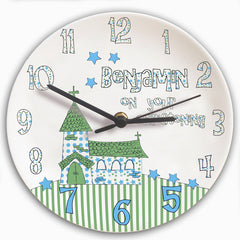 Personalised On Your Christening Day Clock