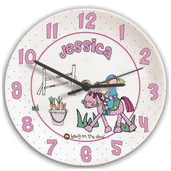 Personalised Bang on the Door Clock