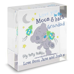 Tiny Tatty Teddy To the Moon & Back Crystal Token