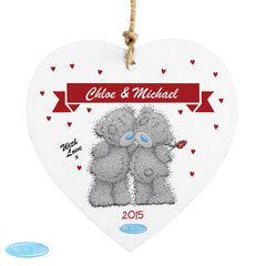 Me to You Couple Wooden Heart Decoration
