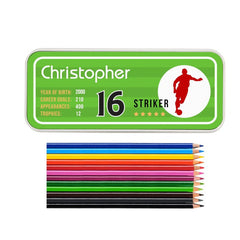Buy this Personalised Pencil Tin - Team Player online at When I Was a Kid. Free Delivery on all orders over £30. - 3