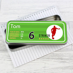 Buy this Personalised Pencil Tin - Team Player online at When I Was a Kid. Free Delivery on all orders over £30. - 4