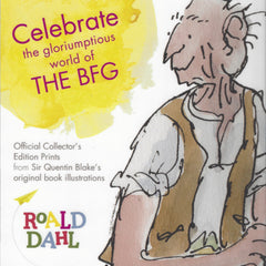 Buy this Roald Dahl BFG Limited Edition Print online at When I Was a Kid. Free Delivery on all orders over £30. - 4