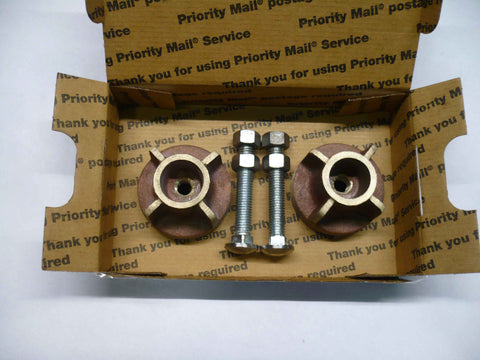 "2.50"" OD Silicon Bronze Draft Knob, bronze treads"