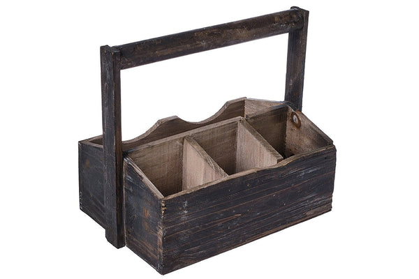 Rustic Wood Utensil Holder and Gardening Tote