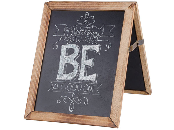 Rustic Wood Collapsible Double Sided Chalkboard Sign