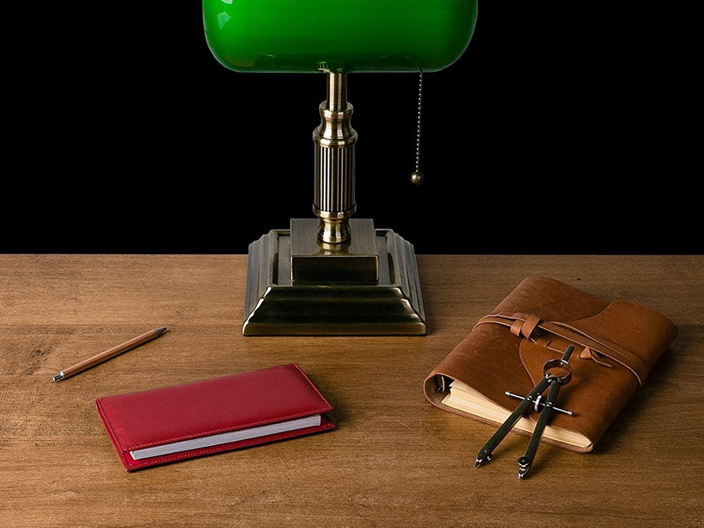 Essential Leather Checkbook Cover with Register Holder and Carbon Copy Divider
