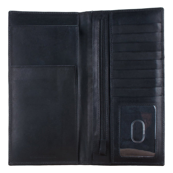 Tall Leather Travel Document Organizer (Mathani Cowhide)