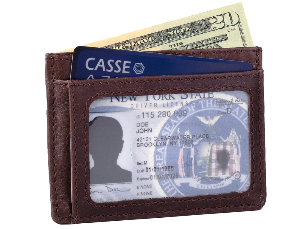 Slim Front Pocket Credit Card Wallet with RFID Blocking Protection