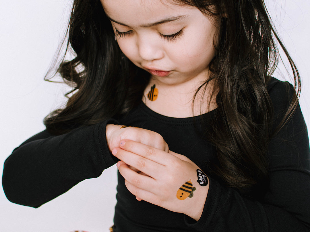 Spelling bee contest: make it a party with kids bee tattoos