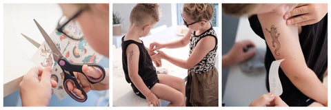 How to apply kids temporary tattoo