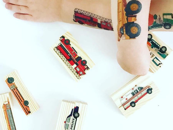 Car activity game made with tattoos