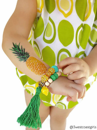 DUCKY STREET kids temporary Tattoo Pineapple designed by duckystreet - 6