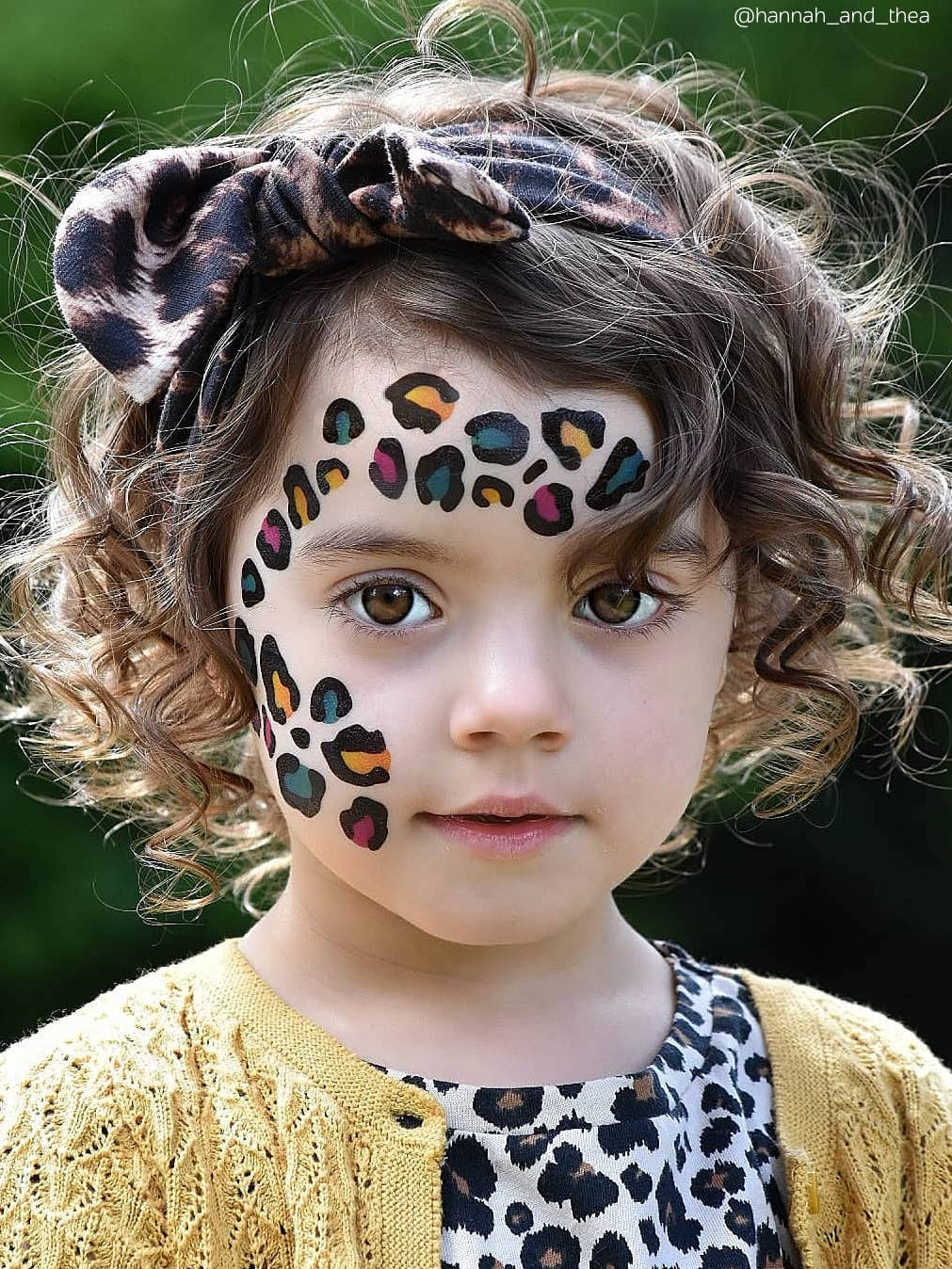 Temporary tattoo Leopard print. Big tattoo sheet to create realistic rainbow cheetah pattern skin effect.