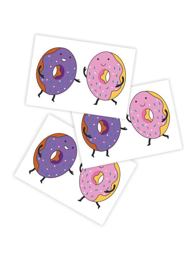 High quality temporary tattoos «Donuts» by Ducky street with walking sprinkle donuts friends. Free worldwide shipping.
