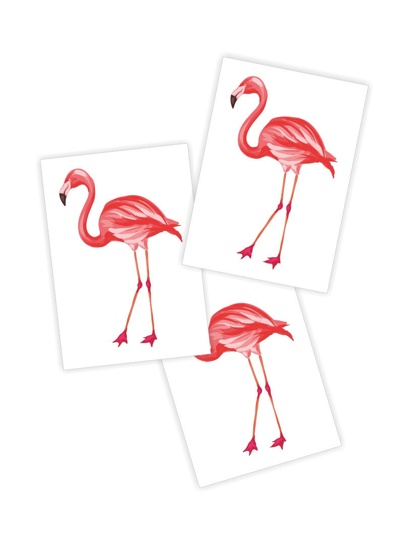 DUCKY STREET kids temporary Tattoo Flamingo designed by incomible - 1