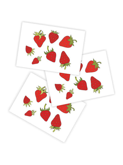 DUCKY STREET kids temporary Tattoo Strawberry designed by Volodymyr Vechirnii - 1