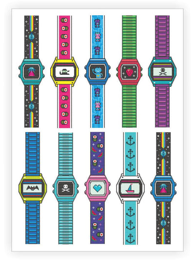DUCKY STREET kids temporary Tattoo sheet Watches designed by Maria Kalyagina - 1